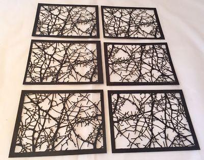 Tim Holtz Halloween Die Cuts * Tangled Twigs * 6 Pieces * New 2018 Design! Black