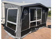 Izabella magnum awning porch carbon x poles coal slate colour as new condition.