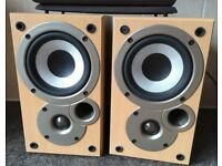 Mission/ Denon SC-M50 bookshelf Hi-Fi loud speakers 2 Way Reflex 50 Watts UK design