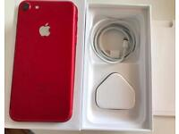 iPhone 7 Red 128GB Factory Unlocked Limited Edition With Box & Accessories. Can Deliver