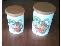 Portmerion Pomona Biggarreux Cherry Storage Jars