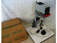 EXCELLENT, BOXED, DURST M301 ENLARGER with DURST NEONON f2.8 50mm LENS £90