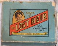 CANADIAN 'GAME OF THE LOST HEIR WITH CDN CITIES', c1920's