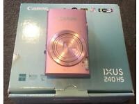 Canon IXUS 240 HS Digital Camera with Wi-Fi - Light Pink (16.1 MP, 5x Optical Zoom) 3.2 inch LCD