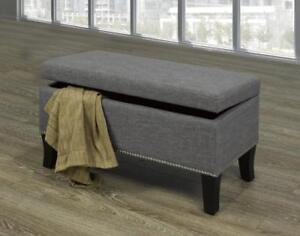 Grey Bench with Nailheads - IF-6241 in Toronto Furniture Sale (BD-1469)