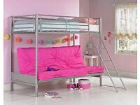 Children's metal bunk bed excellent condition