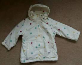 Regatta waterproof girls jacket Age 2