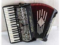 Crucianelli 96 Bass Double Cassotto Accordion with MIDI & Sennheiser Mics