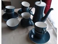 VINTAGE/RETRO Poole Pottery Blue Moon Coffee Set