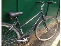 19 inch Ridgeback Adventure 503LX lightweight ladies Hybrid Bike Town bicycle with mudguards