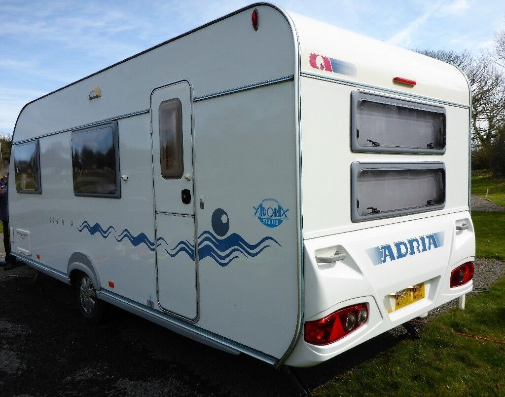 2006 ADRIA ADORA 532 UK, 6 BERTH SINGLE AXLE CARAVAN WITH LARGE FIXED  BUNKBEDS AND