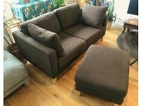 Ikea Karlstad corner sofa with ottoman chaise
