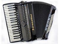 Serenellini 374 Double Cassotto MIDI Piano Accordion - 37 Keys / 96 Bass - 4 Voice Musette