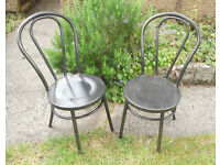 Garden, Patio, Kitchen, Dining Steel Chairs - Thonet Bentwood Style - £30 a pair