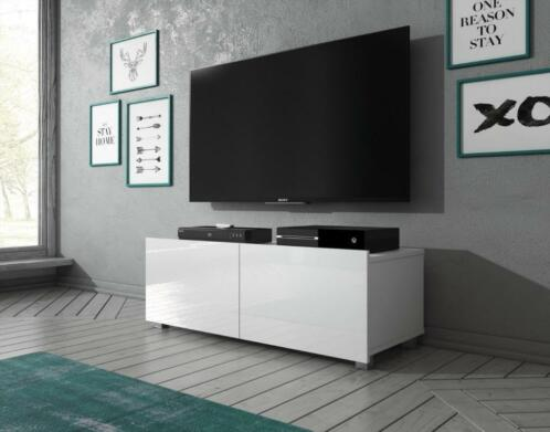 Tv Meubel Eiken Wit Of Zwart 100 150 200 Of 300 Cm Tv