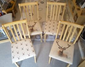 4 Stag Dining Chairs