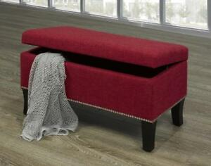 Red Bench with Nailheads - IF-6242 in Toronto Furniture Sale (BD-1468)