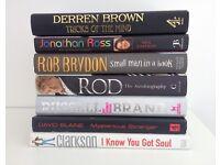 David Blaine, Russell Brand, Derren Brown, Jeremy Clarkson, Jonathon Ross, Rod Stewart, Tattoo Books