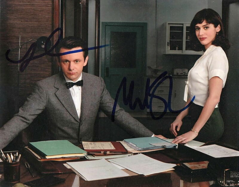 MASTERS OF SEX.. Michael Sheen with Lizzy Caplan - SIGNED