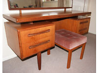 Vintage G-Plan Fresco Floating Dressing Table Desk Teak Mid Century 1970's