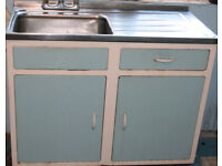 1960s original vintage METAL retro kitchen units, made in UK, restoration, collect nr Swansea Valley