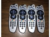 4 SKY + REMOTE CONTROLS 100% GENUINE ORIGINAL JOB LOT !