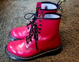 Cherry red patent Dr. Martens size 5