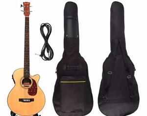 Acoustic Electric Bass Guitar 49 inch pickup EQ iBass241 Free Gig bag & Cable iMusicGuitar