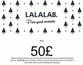 £50 Gift Voucher for LALALAB - Photo prints, Canvas prints, Calendars, Photobooks etc.