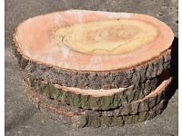Large Rustic Log Slices for Wedding Cake Stand COLLECTION ONLY