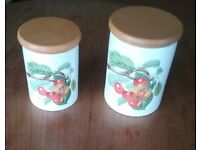 Portmerion Pomona Biggarreux Cherry Storage Jars