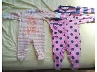 0-6months bundle girls baby clothes, x35 items, mainly from bluezoo debenhams and Next