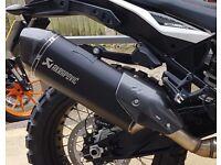AKRAPOVIC Slip-On Exhaust in Black for KTM 1090 / 1290 Adventure