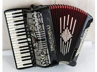 Crucianelli Double Cassotto 96 Bass Accordion with MIDI & Sennheiser Mics - in great condition