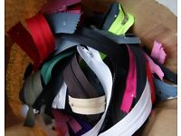 50 ZIPS in many colours and lengths NEW perfect for sewing, craft etc.