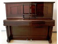 Chappell London Upright Piano Edwardian 1900s Dark Wood