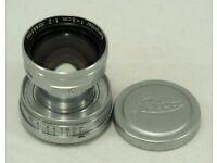Leica Leitz Collapsible L39 Screw Mount Summitar 5cm f2 Lens - Excellent condition
