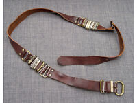 Diesel Women's Leather Belt Black brown