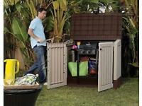 NEW Keter Store It Out 845L Garden Patio Storage Box Weatherproof Lockable Wheelie Bin BBQ