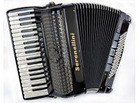 Serenellini 374 Double Cassotto Accordion - 37/96 Bass - 4 Voice Musette with MIDI
