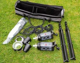 Bowens Esprit Gemini GM500 - 2 head professional lighting kit.