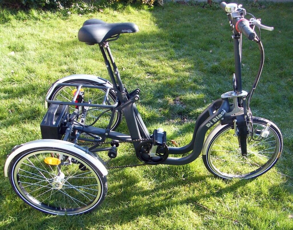 Di-Blasi Adult Electric assisted Folding Tricycle R34 RRP £2700++   in  Bramley, Hampshire   Gumtree
