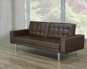 brown upholestry sofa bed  bd 1656  futon   buy or sell a couch or futon in kitchener   waterloo      rh   kijiji ca