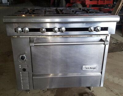 Us Range Natural Gas Commercial 36 6 Six Burner Heavy Duty Range Oven Stove