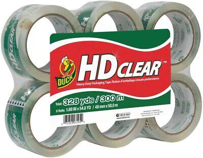 Duck Hd Clear Heavy Duty Packing Tape Refill 6 Rolls 1.88 Inch X 54.6 Yard