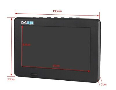 DVB-T-T2 16:9 Portable TFT-LED HD Digital Analog Color TV Television Player UK