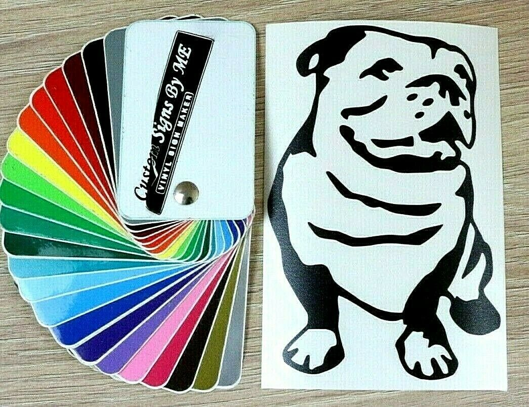English Bulldog Car Sticker Vinyl Decal Adhesive Wall Window Bumper Laptop Black