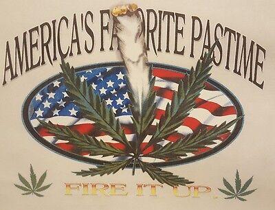 Americas Favorite Pastime Pot Weed Marijuana Hooded Sweatshirt  Mj 7 Hoodie