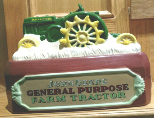 John Deere Ceramic Cookie Jar Model D 1924-1953 General Purpose Farm Tractor Gib