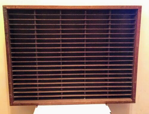100 Slot Cassette Tape Case Napa Valley Box Co. Wood  Wall Rack Storage